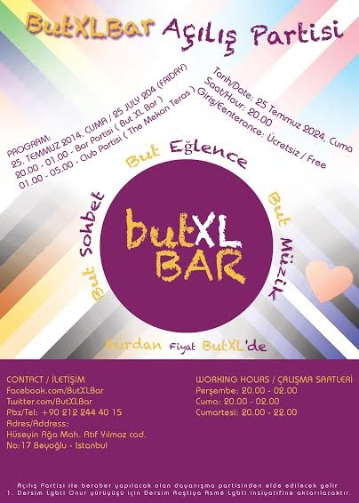 �BUT XL BAR� KAPILARINI A�IYOR.