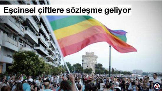 Yunanistan�da e�cinsel �iftlere birlikte ya�ama s�zle�mesi geliyor